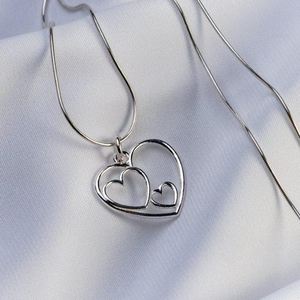 "Lantisor snake ""Triple Heart"" din argint 925 - Armilla Sliver - Unește cupluri"
