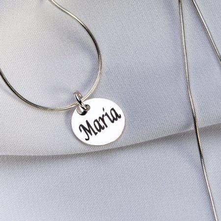 "Lantisor snake ""Small Coin"" din argint 925 personalizat - Armilla Sliver - Unește cupluri"