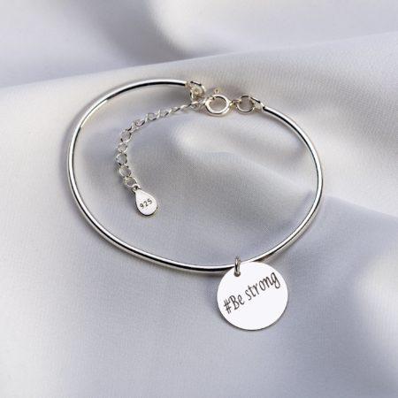 "Bratara "" Flip Coin"" din argint personalizata - Armilla Sliver - Unește cupluri"