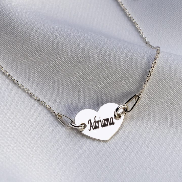 "Bratara "" Lady Heart"" din argint personalizata - Armilla Sliver - Unește cupluri"