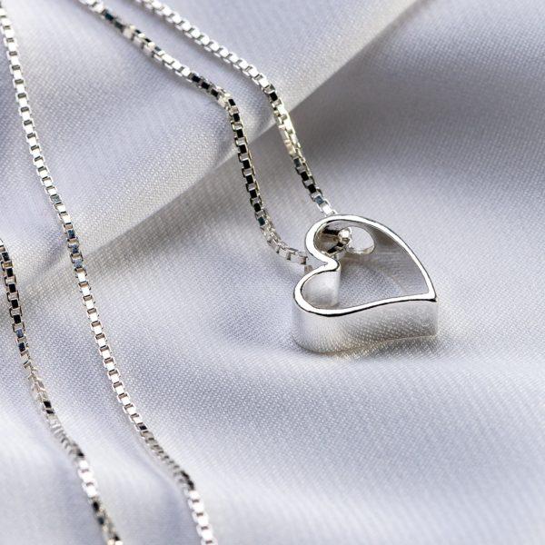 """Lantisor argint 'Bold Heart"""" din argint 925 - Armilla Sliver - Unește cupluri"""