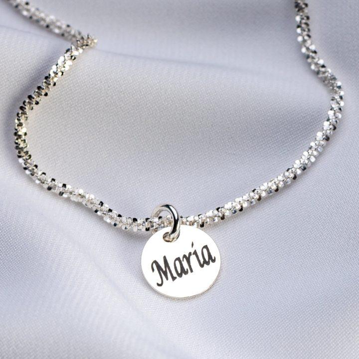"Bratara ""Brillant"" din argint 925 personalizata - Armilla Sliver - Unește cupluri"