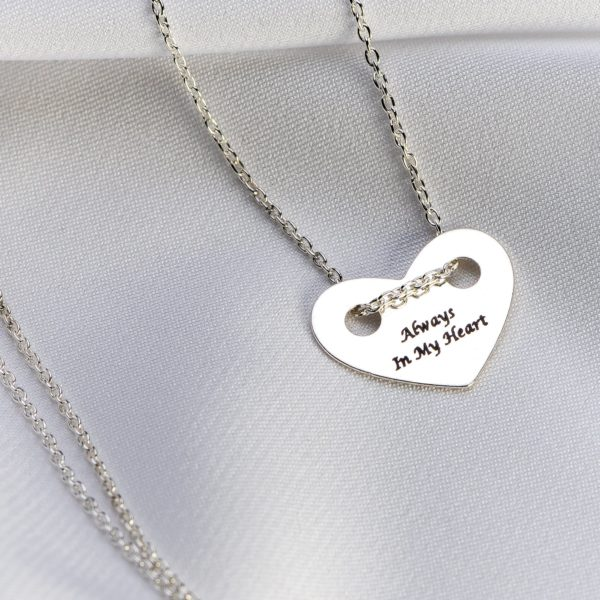Lantisor argint cu pandantiv inima - Armilla Sliver - Unește cupluri