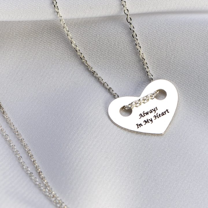 Lantisor argint cu pandantiv inima