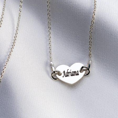 """Lantisor """"Heart"""" din argint 925 personalizat - Armilla Sliver - Unește cupluri"""