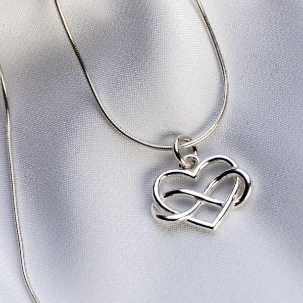 "Lantisor snake ""Infinit Heart"" din argint 925 - Armilla Sliver - Unește cupluri"