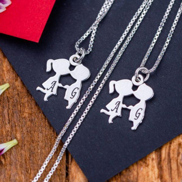 """Set Lantisoare """"Pupaciosi"""" Personalizate din Argint 925 - Armilla Sliver - Unește cupluri"""