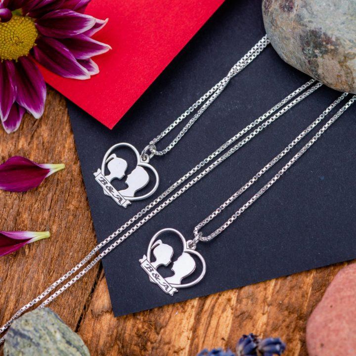 """Set Lantisoare """"Ea&El"""" Personalizate din Argint 925 - Armilla Sliver - Unește cupluri"""