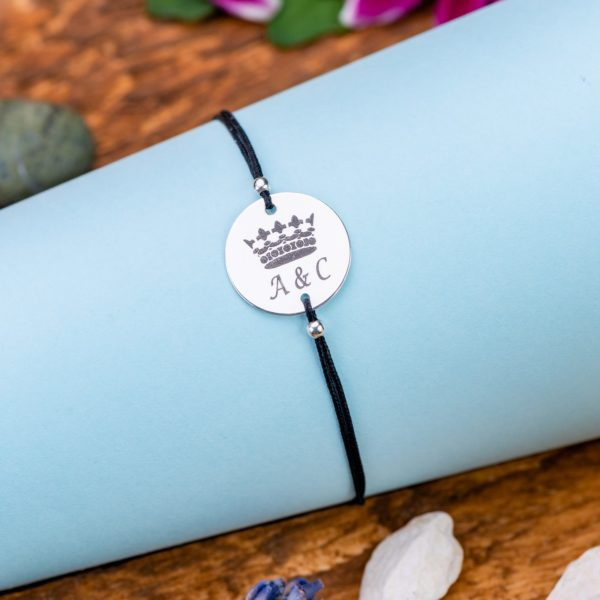 """Bratara """"King initiale"""" Personalizata din Argint 16 mm - Armilla Sliver - Unește cupluri"""
