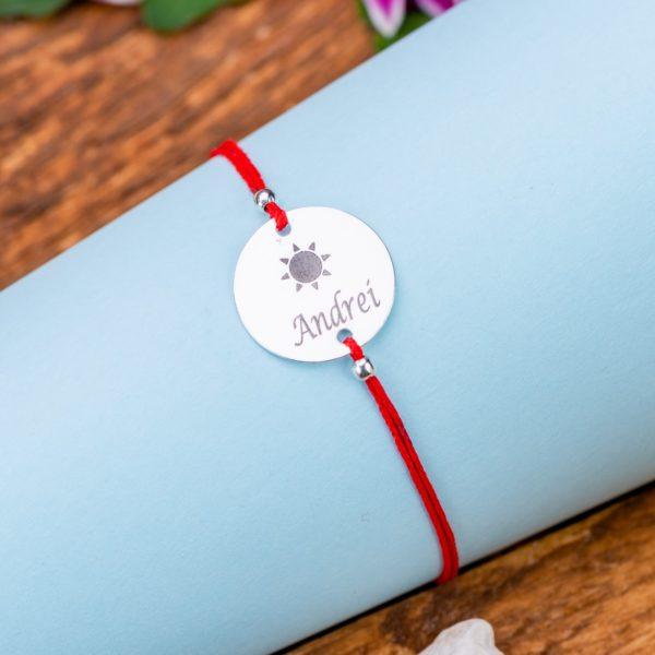 "Bratara ""Soare"" Personalizata din Argint 16 mm - Armilla Sliver - Unește cupluri"