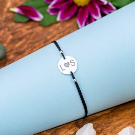"""Bratara """"Initiale Heart"""" Personalizata din Argint 12 mm - Armilla Sliver - Unește cupluri"""