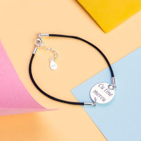 Bratara Element Argint Personalizata cu textul tau - Armilla Sliver - Unește cupluri