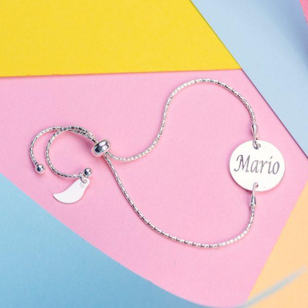 Bratara Glamour din Argint Personalizata - Armilla Sliver - Unește cupluri