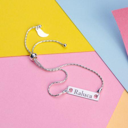 "Bratara Glamour ""Long"" din Argint Personalizata - Armilla Sliver - Unește cupluri"