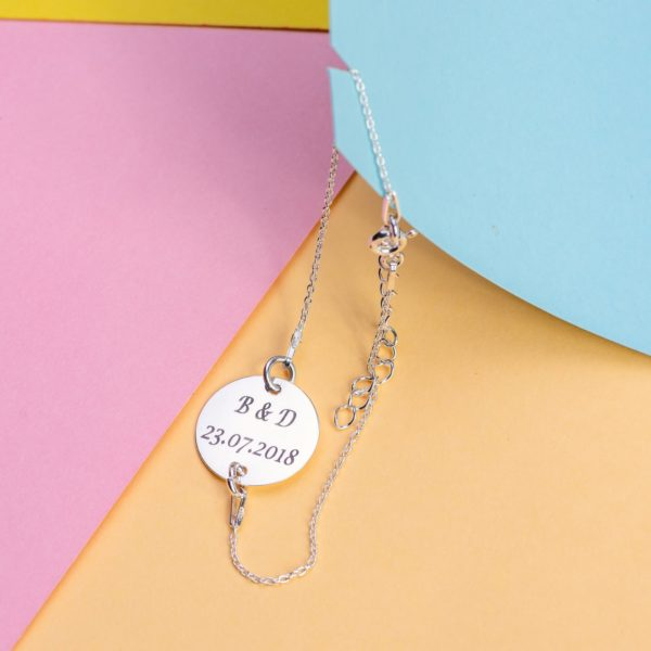 """Bratara """"Lady Initiale si Data"""" Personalizata din Argint 16 mm - Armilla Sliver - Unește cupluri"""