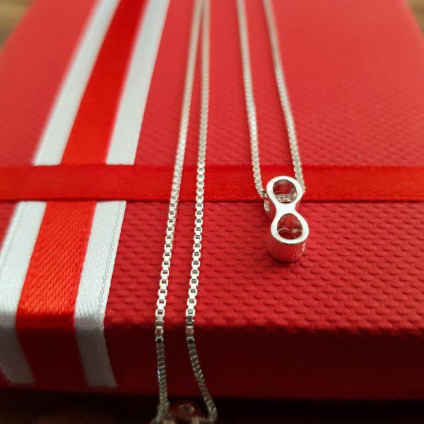 Lantisor INFINIT Personalizat din Argint 925 - Armilla Sliver - Unește cupluri